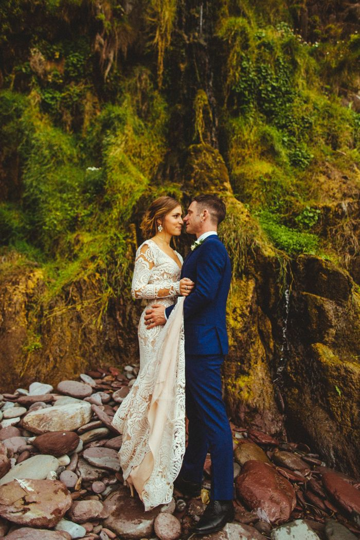 This romantic wedding at Ballintaggart House has all the charm of an Irish wedding, a surprise music video appearance, and a choreographed first dance.