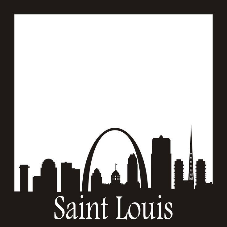 Want2scrap Saint Louis Skyline - 12x12 Overlay  Scrapbook laser design page layout