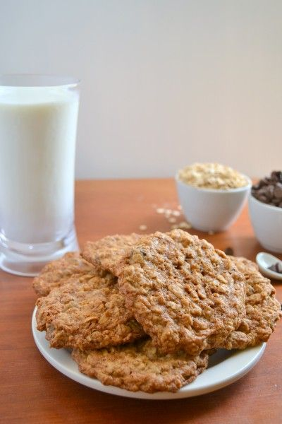 Whole Wheat Oatmeal Chocolate Chip Cookies by Food Doodles