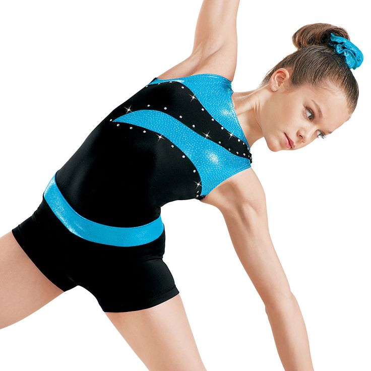 Cute Gymnastics Leotards for Girls | Clearance Tank Leo with Metallic Insets