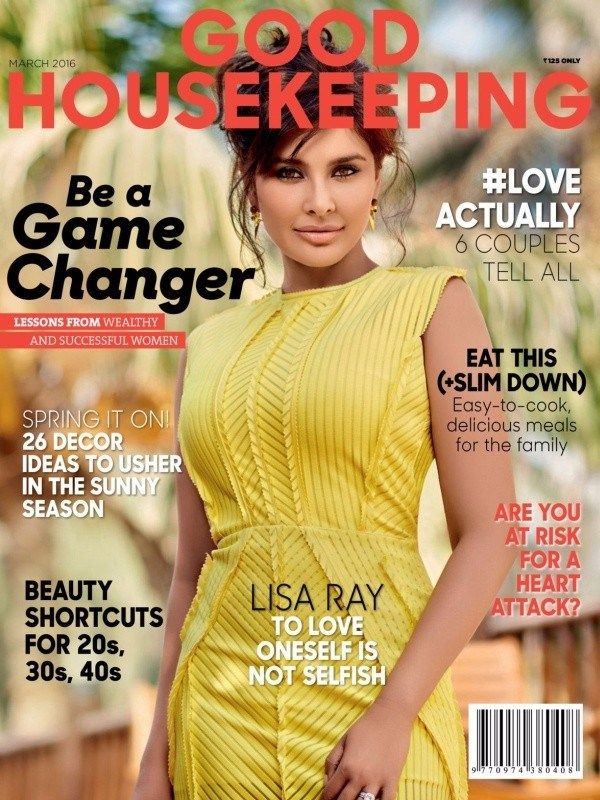 Good Housekeeping March 2016 Issue- Cover Girl- Lisa Ray!  #GoodHousekeeping #LisaRady @GHIndia #ebuildin