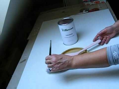 Lusterko, farba kredowa Vittorino i szablon 3D
