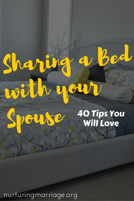 Some great, real-life advice on sharing a bed with your spouse! Hilarious and wise.