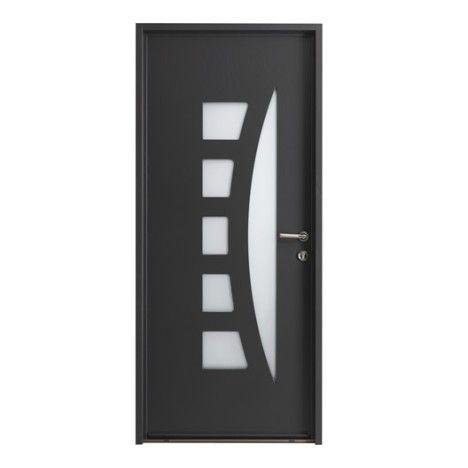 Porte d 39 entr e sur mesure en aluminium centauria excellence porte d 39 entr e pinterest - Porte exterieure lapeyre ...