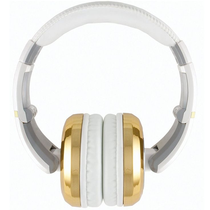 CAD MH510 White with Gold Closed-Back Studio Headphones New!