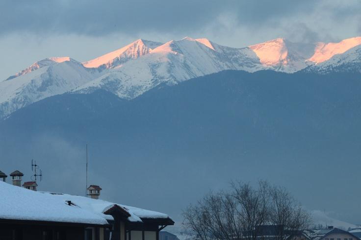 Sunrise in the Pirin Mountains, Bansko, Bulgaria.