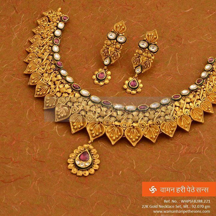 #Beautiful #attractive #designer #elegant #fabulous #gold #necklaceset from our brand new collection.
