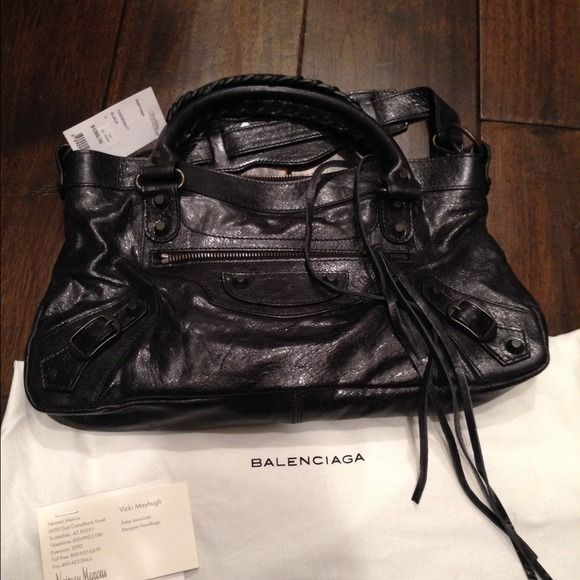 Balenciaga Handbags - NWT balenciaga first handbag, black