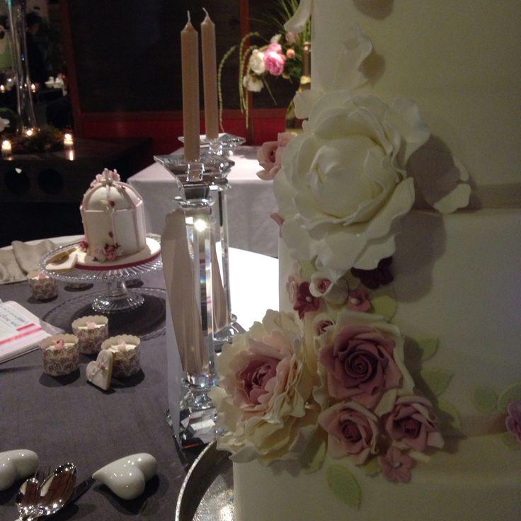 Wedding cake from Tesoro Resort Mantua .