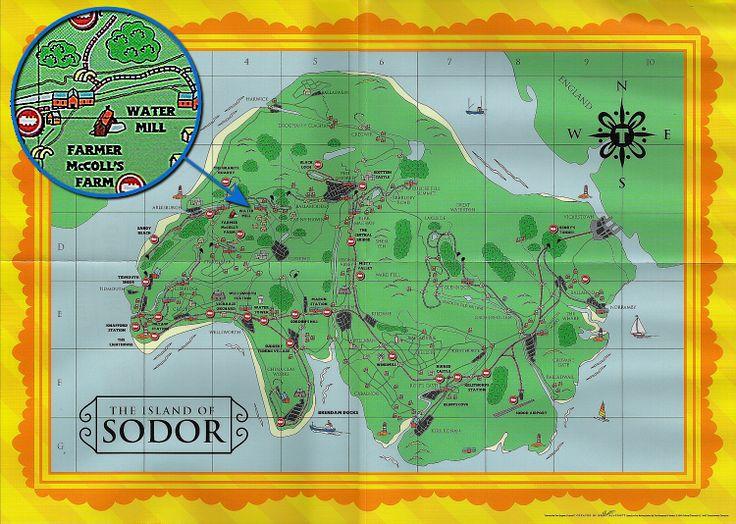 Island Of Sodor Map Pinteresting Pinterest Thomas