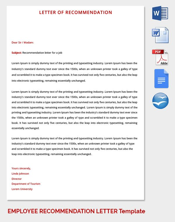 Best 25+ Employee Recommendation Letter Ideas On Pinterest