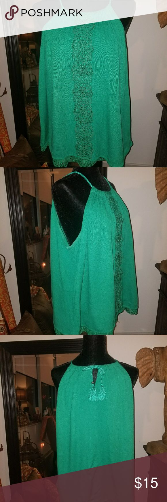 Camisol top Green cami top. Bought it because I loved the green. Will look nice under a cardigan or a business suit. Tops Camisoles