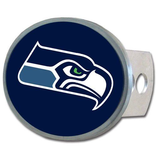 NFL Seattle Seahawks Oval Hitch Cover, Class II & III  http://allstarsportsfan.com/product/nfl-oval-hitch-cover/?attribute_pa_teamname=seattle-seahawks  Officially licensed merchandise Class II and III hitch plugs included All metal including hitch plugs