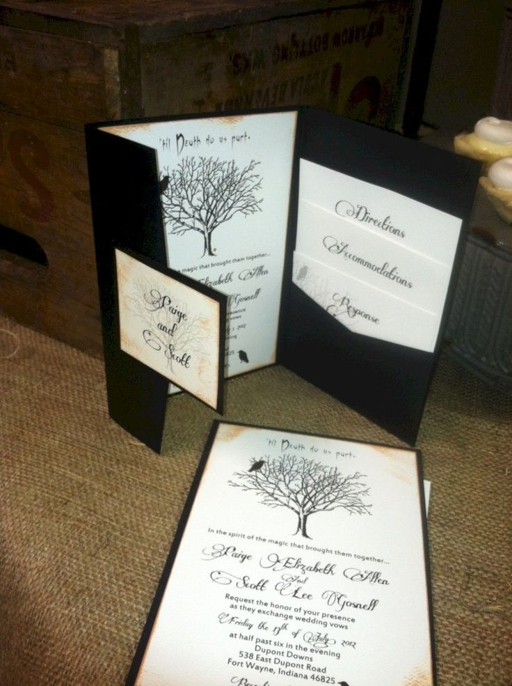 how to get directions for wedding invitations%0A How To Use Dark Color for Your Wedding Invitation  Try This Halloween Theme  Ideas  Beauty of Wedding