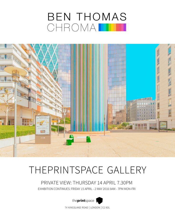 theprintspace are thrilled to announce Chroma,a new exhibition with Australian visual artist and winner of the 125LIVE 2015 Olympus Vision Award Ben Thomas![[MORE]]In collaboration with 125 World, Chroma marks Ben's first exhibition in the UK, taking place at theprintspace gallery in Shoreditch, with much anticipation, following significant media coverage and a storm of online attention. This major exhibition will feature 20x works from the Chroma series, printed and presented in large…