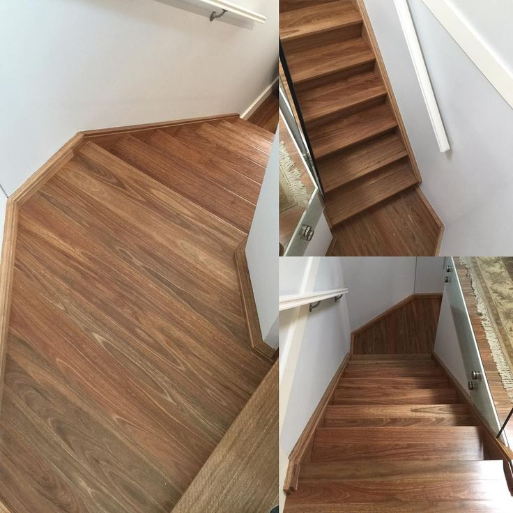 #Staircase #makeover Using #solid #spottedgum #timber #timberfloorsptyltd  @timberfloorsptyltd Www