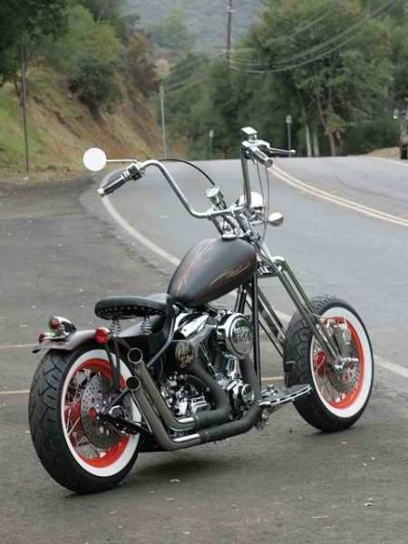 red rims and white-walls | Certifit Auto Parts | Pinterest ... Bobber Motorcycle With Ape Hangers