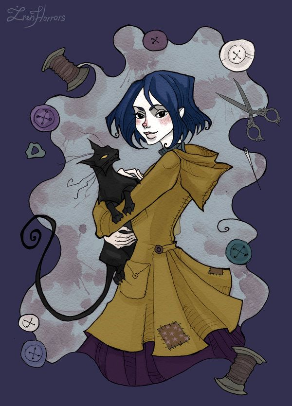 Coraline!!! Oddly enough I like this movie. The cat's eyes are supposed to be blue though.