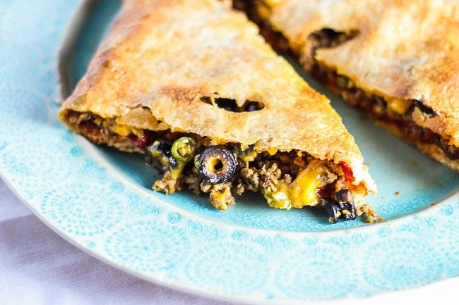 Cheddar and Beef Calzone