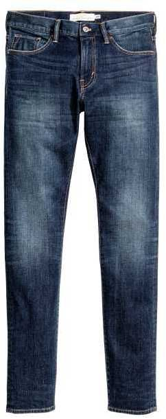 H&M - Skinny Low Jeans - Dark blue washed out - Men