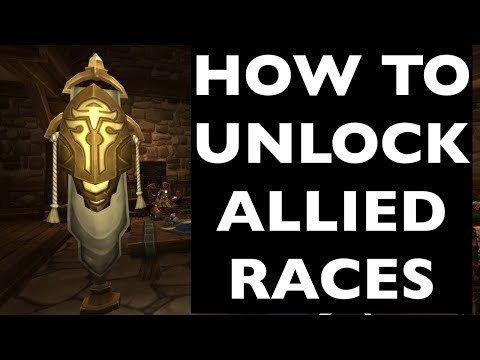 UNLOCK ALLIED RACES! Lightforged Draenei, Void Elves