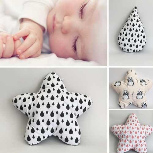 Star Drops Panda Cushions