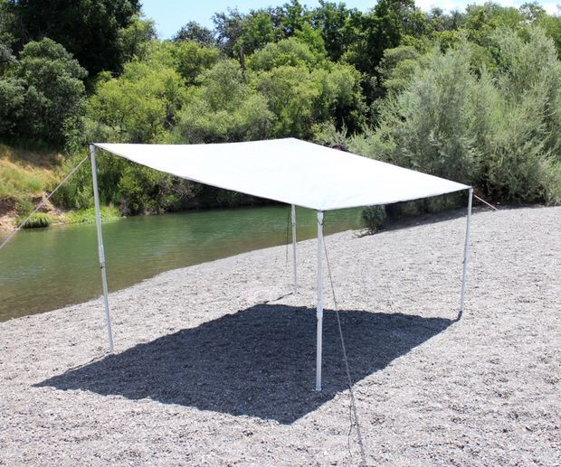 Patio Umbrella Flying Away: Easy Portable Beach Shelter