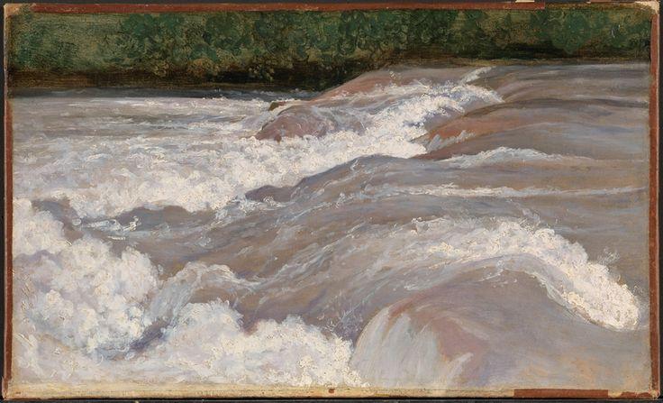 (1826). Olje på papir oppklebet på lerret - Camille Corot, The Velino Above the Cascade of Terni
