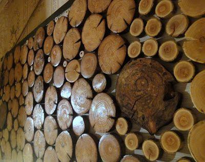 """""""Срез"""": Срезы дерева, мозаика."""