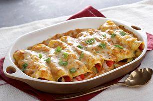 Enchiladas de verduras asadas