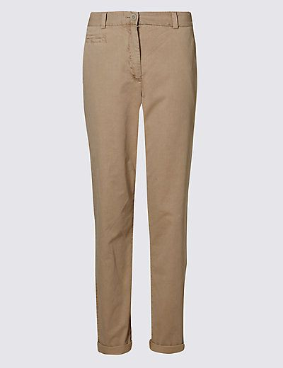 Pure Cotton Turn Up Standard Chinos