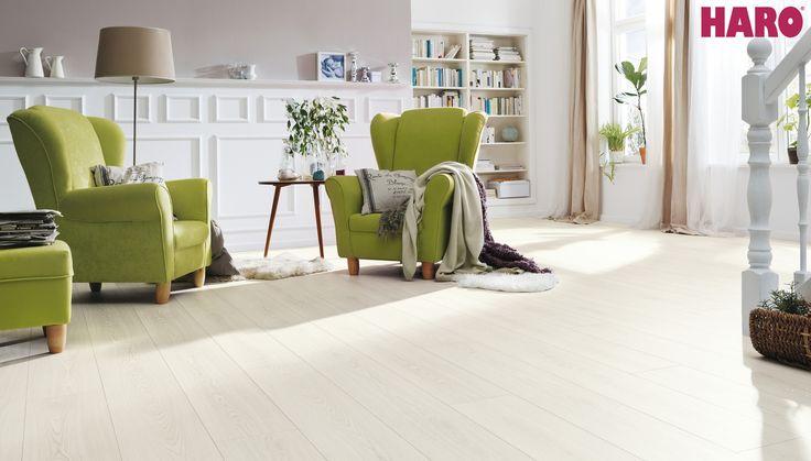 529903 Disano Classic by Haro Designboden Eiche weiß / weiss XL Landhausdiele strukturiert mit 4V Fase