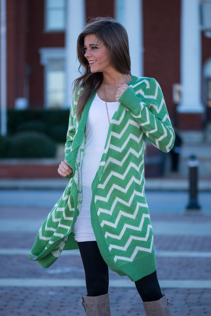 Rocky Road Cardigan, Green - The Mint Julep Boutique