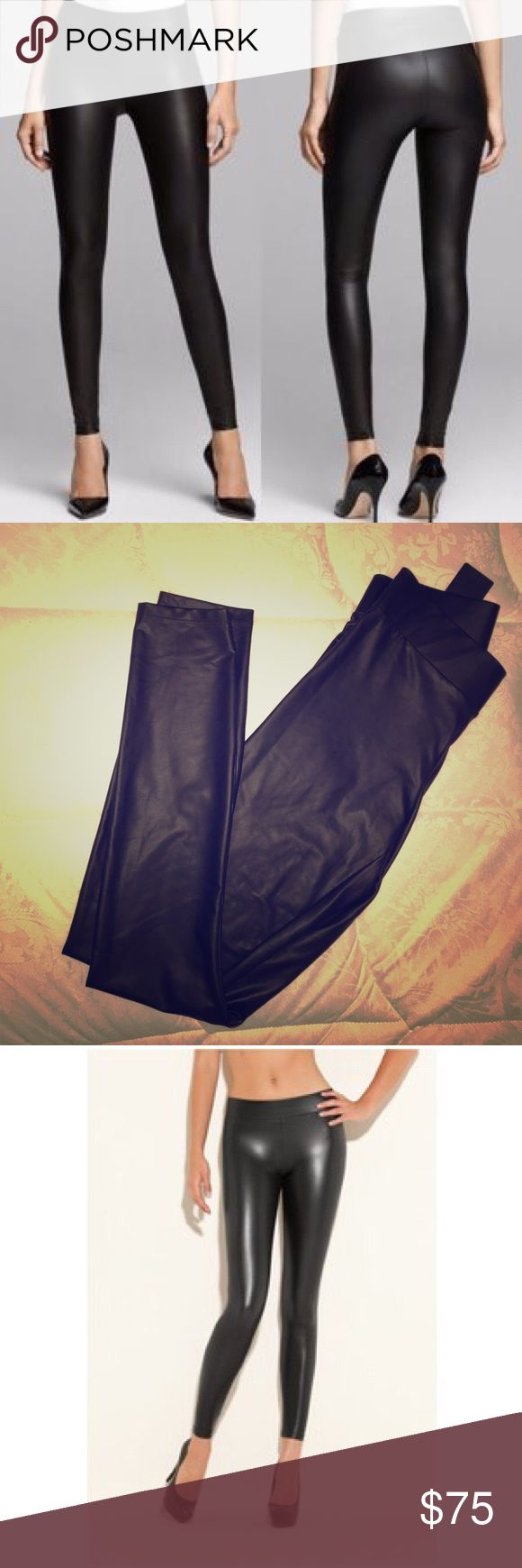Guess Matte Wet Legging Gives your butt and legs such a good shape, so slimming and really comfortable! Looks sexy paired with with heels, trendy pairs with trainers! Guess Pants Leggings