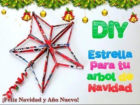 80. RECICLAJE DE PAPEL (ESTRELLA NAVIDEÑA) DIY CHRISTMAS