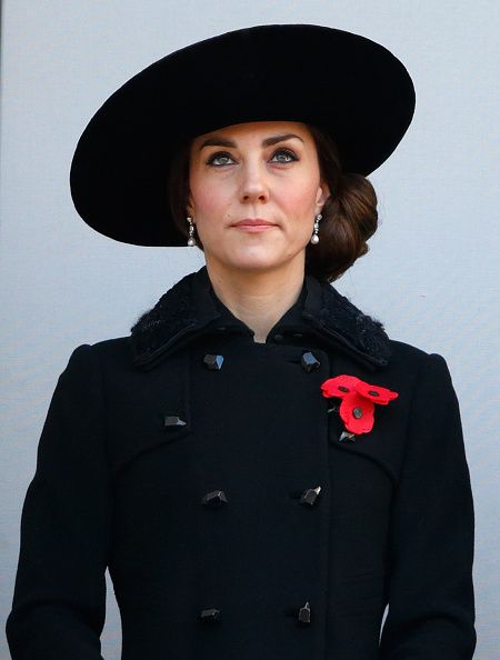 Catherine, Duchess of Cambridge attends the annual Remembrance Sunday Service at the Cenotaph on Whitehall on November 13, 2016 in London, England.