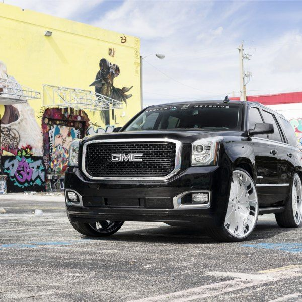 Black Gmc Yukon Denali With 26 Inch Giovanna Andros Wheels And Custom Painted Red Brake Calipers Yukon Denali Gmc Yukon Denali Gmc