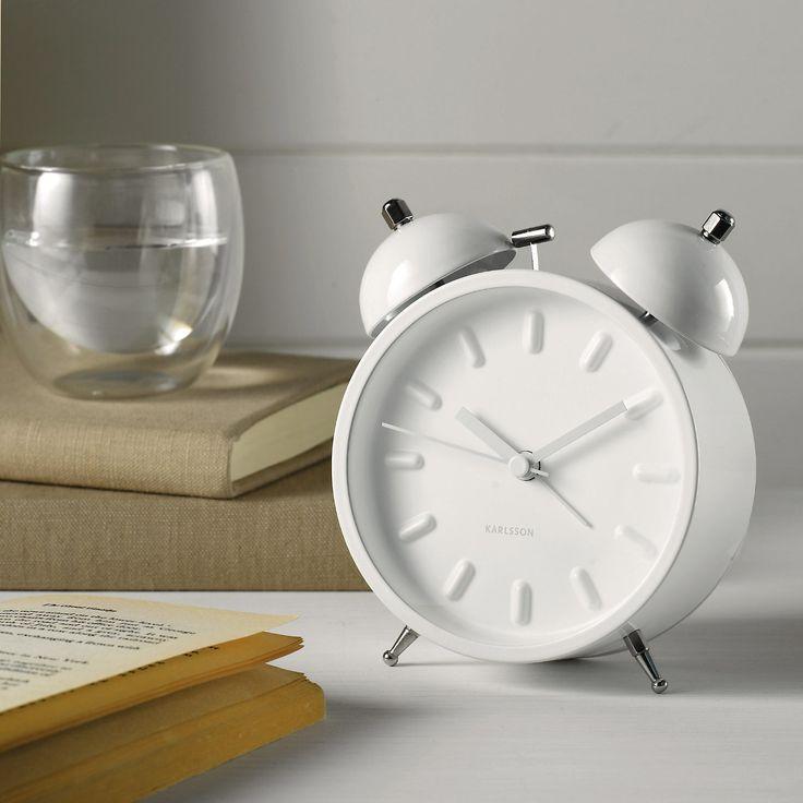White Small Karlsson Alarm Clock The White Company