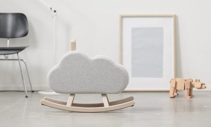 Sweet and huggable rocker 'cloud' from Maison Deux. Cute minimalistic design. Interior design. Kids room inspiration and ideas.