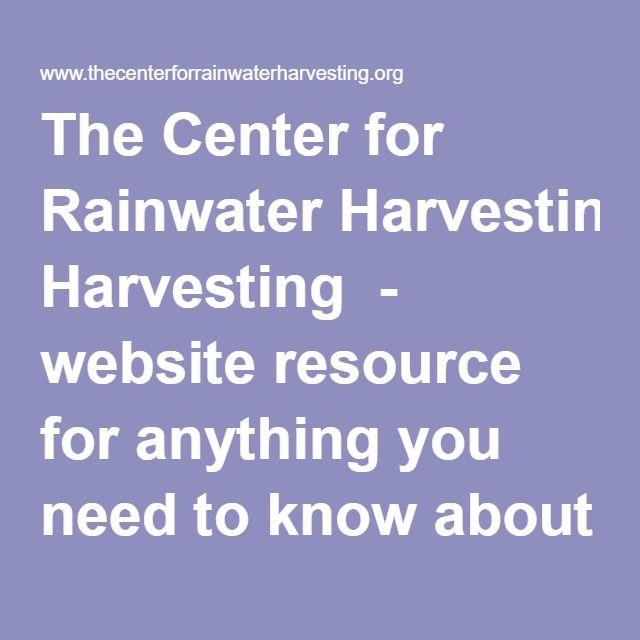 M s de 1000 ideas sobre rain water harvesting methods en for Rainwater harvesting quotes
