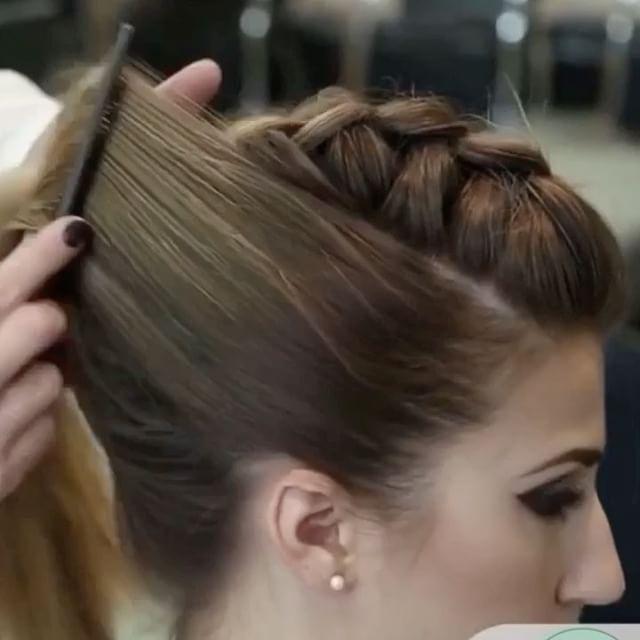 theconfessionsofahairstylist: dutch braid ponytail mohawk