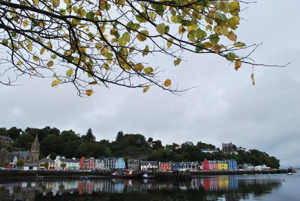 Tobermory reflection. Isle of Mull, Scotland.