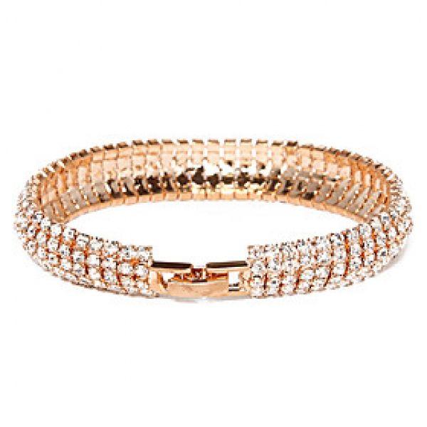 Victoria Czech Crystal Golden belagte Armbånd Armbånd