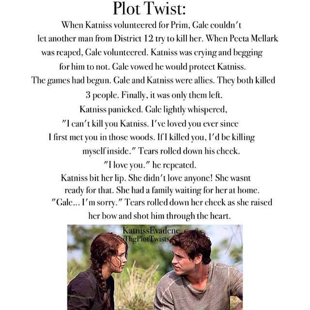 this without a doubt is the worst plot twist I have ever read, I don't like Gale, by this is cruel