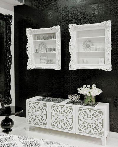 Love the Ruffled Frame Shelf---Great Wall Decor & Storage!