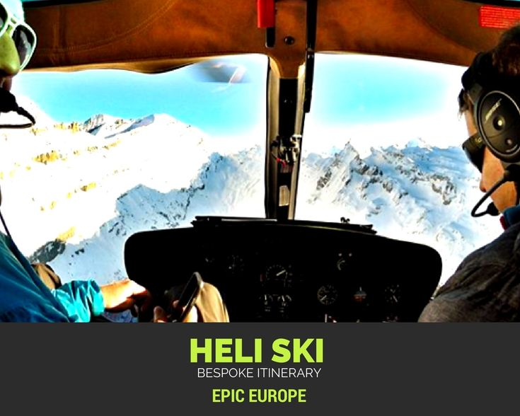 Scenic flights for intermediate skiers, dropping off at the top of the resort for a 15km fresh corduroy run down an empty slope #heliski#ski#powder#snow#epiceurope