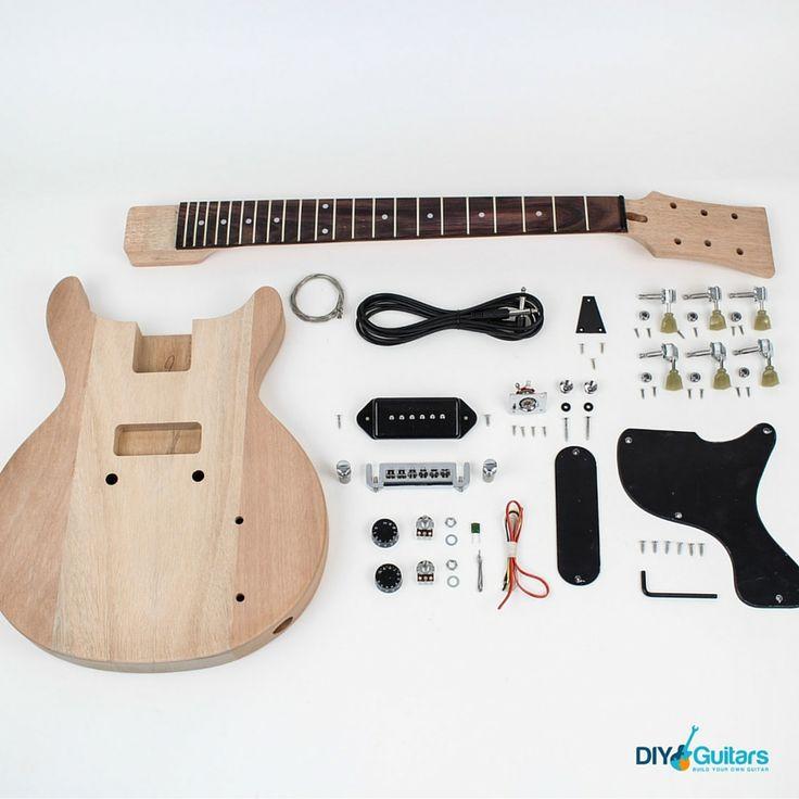 Gibson Les Paul Junior Double Cutaway DIY Electric Guitar Kit parts