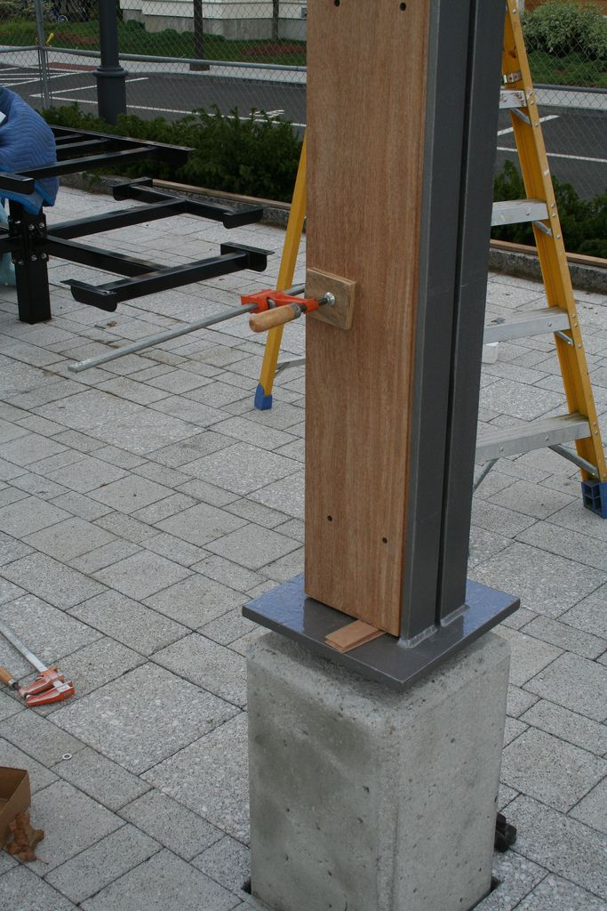 All sizes | Concrete base @ wood and steel angle column | Flickr - Photo Sharing!