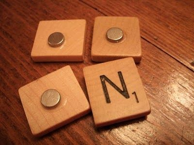 If I can ever score some scrabble pieces at a used store (why on earth are these eluding me?) I'm making these magnets.