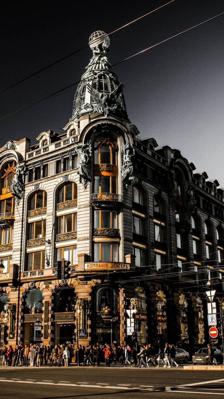 The main thoroughfare in St Petersburg, Nevsky prospect, Zinger